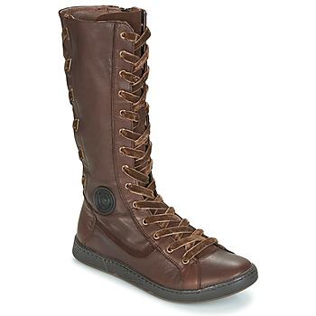 Παπούτσια Γυναίκα Μπότες για την πόλη Pataugas JINA Brown