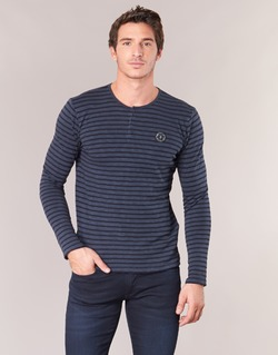 Υφασμάτινα Άνδρας Μπλουζάκια με μακριά μανίκια Le Temps des Cerises ROGER Marine