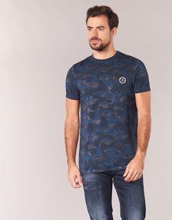 Υφασμάτινα Άνδρας T-shirt με κοντά μανίκια Le Temps des Cerises CAMOSTORK Marine