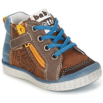 Παπούτσια Αγόρι Ψηλά Sneakers Babybotte AKRO Brown / μπλέ