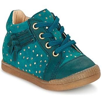 Παπούτσια Κορίτσι Ψηλά Sneakers Babybotte FALSIFI TURQUOISE / Gold