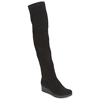 Ψηλές μπότες Robert Clergerie Natun-VELOURS-STRETCH-NOIR