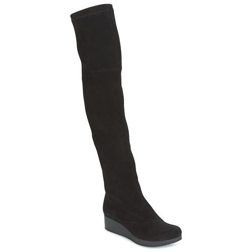 Παπούτσια Γυναίκα Ψηλές μπότες Robert Clergerie Natun-VELOURS-STRETCH-NOIR Black