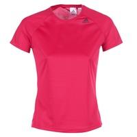 Υφασμάτινα Γυναίκα T-shirt με κοντά μανίκια adidas Performance D2M TEE LOSE ροζ