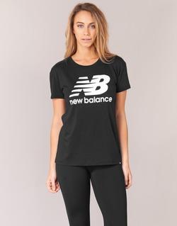 Υφασμάτινα Γυναίκα T-shirt με κοντά μανίκια New Balance NB LOGO T Black / Άσπρο
