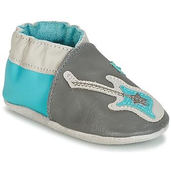 Παπούτσια Αγόρι Σοσονάκια μωρού Robeez SUPERSTAR ROCK Μπλέ / Grey