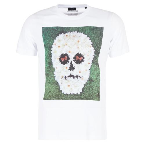 Υφασμάτινα Άνδρας T-shirt με κοντά μανίκια Diesel JOE QM άσπρο