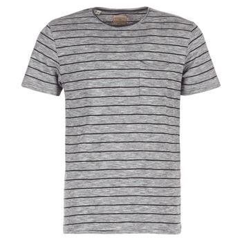 Υφασμάτινα Άνδρας T-shirt με κοντά μανίκια Selected FINN Grey / Black