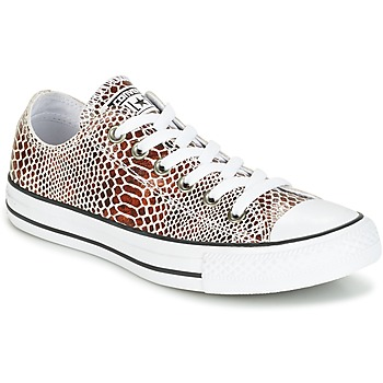 Παπούτσια Γυναίκα Χαμηλά Sneakers Converse CHUCK TAYLOR ALL STAR FASHION SNAKE OX BROWN/BLACK/WHITE Black / Άσπρο