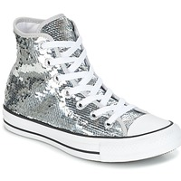 Παπούτσια Γυναίκα Ψηλά Sneakers Converse CHUCK TAYLOR ALL STAR SEQUINS HI SILVER/WHITE/BLACK Silver