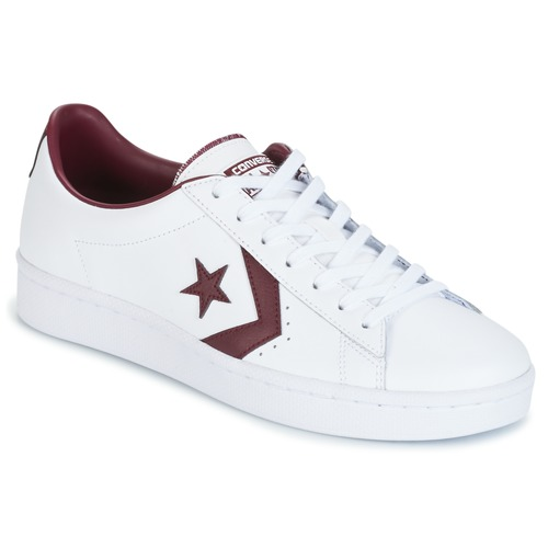 Παπούτσια Άνδρας Χαμηλά Sneakers Converse PL 76 FOUNDATIONAL LEATHER WITH ELEVATED DETAILING OX WHITE/DEEP άσπρο / BORDEAUX