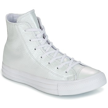 Παπούτσια Γυναίκα Ψηλά Sneakers Converse CHUCK TAYLOR ALL STAR IRIDESCENT LEATHER HI IRIDESCENT LEATHER H Valkoinen