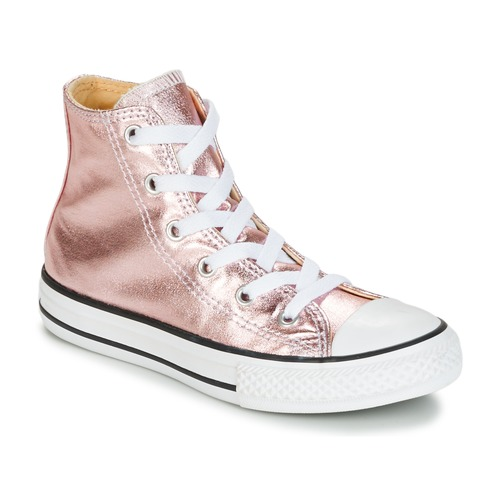 Παπούτσια Κορίτσι Ψηλά Sneakers Converse CHUCK TAYLOR ALL STAR METALLIC SEASONAL HI METALLIC SEASONAL HI ροζ / άσπρο / Black