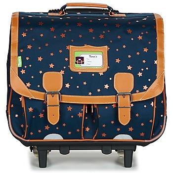 Τσάντες Κορίτσι Σχολικές τσάντες με ροδάκια Tann's EXCLU ETOILE MARINE TROLLEY CARTABLE 41CM MARINE