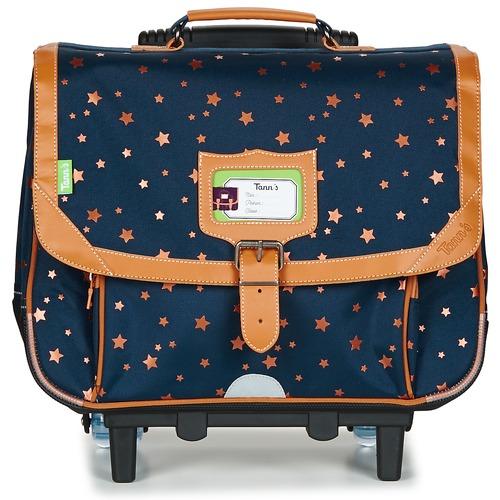 Τσάντες Κορίτσι Σχολικές τσάντες με ροδάκια Tann's EXCLU ETOILE MARINE TROLLEY CARTABLE 38CM MARINE