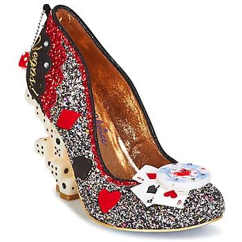 Παπούτσια Γυναίκα Γόβες Irregular Choice LAS VEGAS Argenté / Black