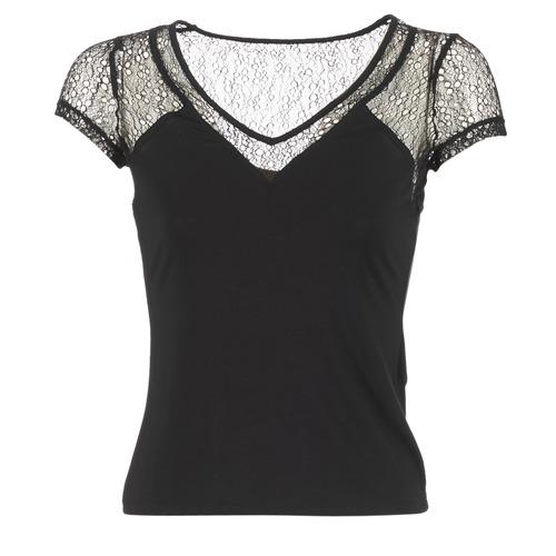 Υφασμάτινα Γυναίκα T-shirt με κοντά μανίκια Morgan DSTAF Black