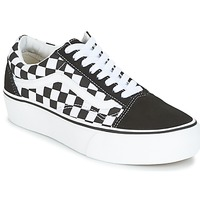 Παπούτσια Γυναίκα Χαμηλά Sneakers Vans UA OLD SKOOL PLATFORM Black / Άσπρο