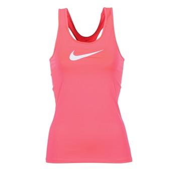 Υφασμάτινα Γυναίκα Αμάνικα / T-shirts χωρίς μανίκια Nike NIKE PRO COOL TANK Ροζ / Άσπρο