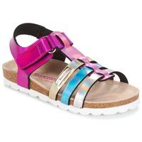 Παπούτσια Κορίτσι Σανδάλια / Πέδιλα Les Tropéziennes par M Belarbi POLINA ροζ / μπλέ / Silver