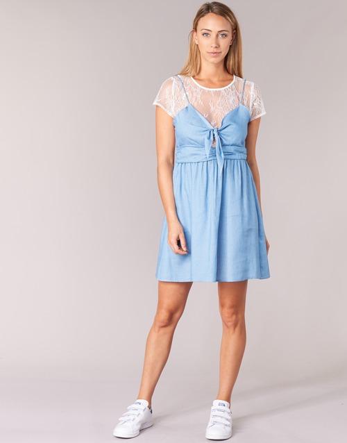 Υφασμάτινα Γυναίκα Κοντά Φορέματα Moony Mood GLAM Μπλέ