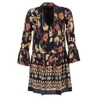 Υφασμάτινα Γυναίκα Κοντά Φορέματα Derhy DEGUSTATION Black / Multicolore