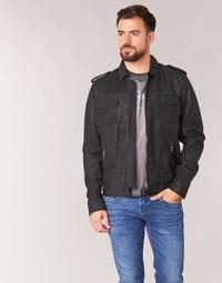 Υφασμάτινα Άνδρας Δερμάτινο μπουφάν Pepe jeans NARCISO Black