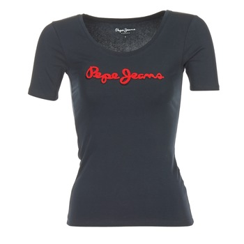 Υφασμάτινα Γυναίκα T-shirt με κοντά μανίκια Pepe jeans MARIA Black
