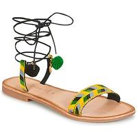 Παπούτσια Γυναίκα Σανδάλια / Πέδιλα Lola Espeleta EDWINA Green / Yellow / Black