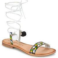 Παπούτσια Γυναίκα Σανδάλια / Πέδιλα Lola Espeleta EDWINA Green / Silver