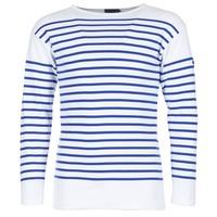 Υφασμάτινα Άνδρας Μπλουζάκια με μακριά μανίκια Armor Lux DISJON Άσπρο / Μπλέ