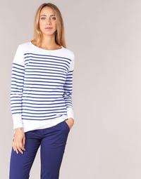 Υφασμάτινα Γυναίκα Μπλουζάκια με μακριά μανίκια Armor Lux ROADY Άσπρο / Μπλέ