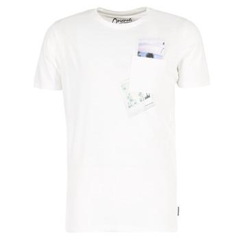 Υφασμάτινα Άνδρας T-shirt με κοντά μανίκια Jack & Jones CHECK ORIGINALS άσπρο