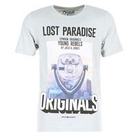 Υφασμάτινα Άνδρας T-shirt με κοντά μανίκια Jack & Jones FASTER ORIGINALS Grey