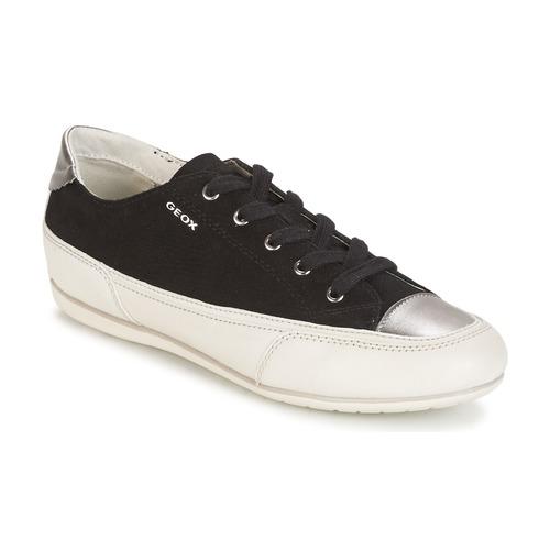 Παπούτσια Γυναίκα Χαμηλά Sneakers Geox D N.MOENA D - SCAM.STA+VIT.CER Black