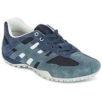 Παπούτσια Γυναίκα Χαμηλά Sneakers Geox U SNAKE K - SCAM.+MESH Μπλέ
