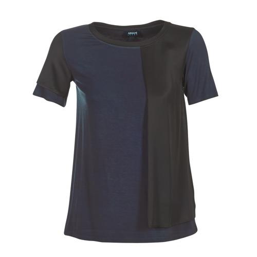 Υφασμάτινα Γυναίκα T-shirt με κοντά μανίκια Armani jeans DRANIZ Marine / Black