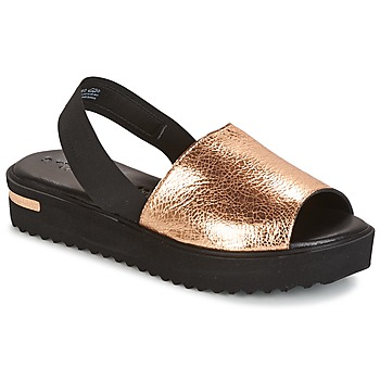 Παπούτσια Γυναίκα Σανδάλια / Πέδιλα Tamaris  Black / Gold