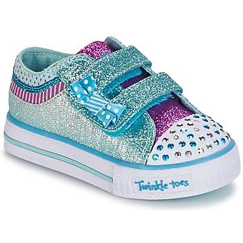 Παπούτσια Κορίτσι Χαμηλά Sneakers Skechers Shuffles άσπρο / MΠΛΕ