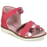 Παπούτσια Κορίτσι Σανδάλια / Πέδιλα Kickers GIGI FUCHSIA / ροζ / Μεταλικό