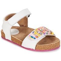 Παπούτσια Κορίτσι Σανδάλια / Πέδιλα Kickers NAISSA άσπρο