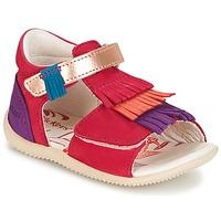 Παπούτσια Κορίτσι Σανδάλια / Πέδιλα Kickers BIHILANA Fuchsia / Orange / Violet