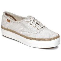 Παπούτσια Γυναίκα Χαμηλά Sneakers Keds TRIPLE DALMATA DOT LEATHER Κρεμ
