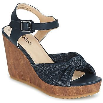 Παπούτσια Γυναίκα Σανδάλια / Πέδιλα S.Oliver  Denim / Comb