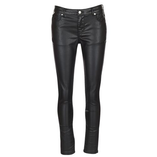 Υφασμάτινα Γυναίκα Παντελόνια Πεντάτσεπα Moony Mood HENDUI Black