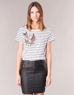 Υφασμάτινα Γυναίκα T-shirt με κοντά μανίκια Only KIRA Άσπρο