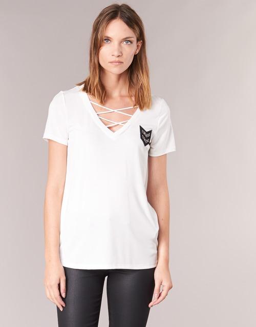 Υφασμάτινα Γυναίκα T-shirt με κοντά μανίκια Only MILI Άσπρο