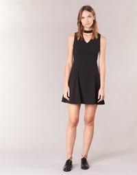 Υφασμάτινα Γυναίκα Κοντά Φορέματα Moony Mood GUDU Black
