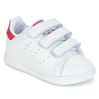 Παπούτσια Κορίτσι Χαμηλά Sneakers adidas Originals STAN SMITH CF I άσπρο / ροζ