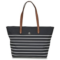 Τσάντες Γυναίκα Cabas / Sac shopping Ralph Lauren BAINBRIDGE TOTE Black / άσπρο